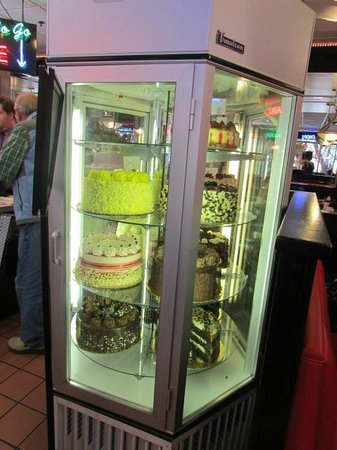 City Cafe Diner: Rotating cake display