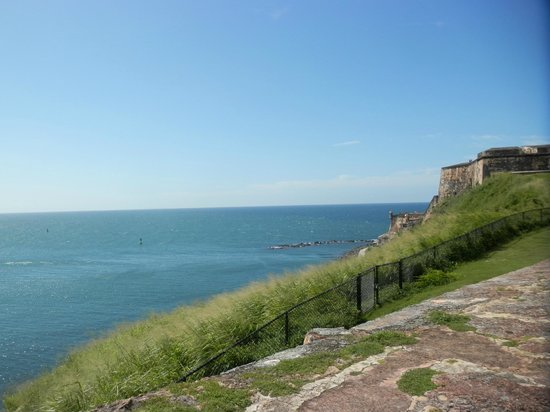 San Juan National Historic Site: Breathtaking view of El Morro  side of the castle