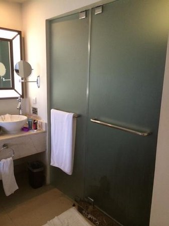 Secrets St. James Montego Bay: left - the water closet, right - the shower