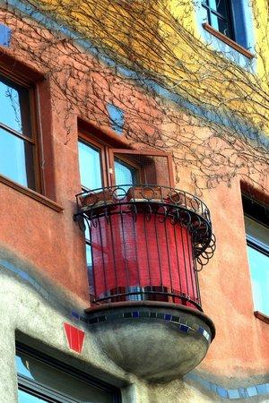 Close up of Hundertwasserhaus
