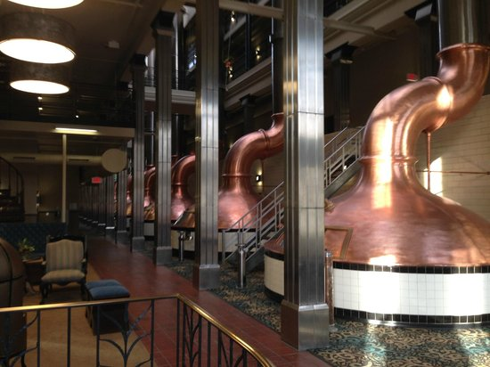 The Brewhouse Inn & Suites: View out of my room....View of the Copper Brew Kettles.