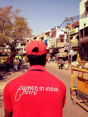 When In India Tours: Comfortable behind our 'driver'