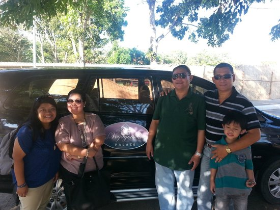 Voyagers Palace: with the owner, Mr. Henry Gabo, who personally drove us to the airport :)
