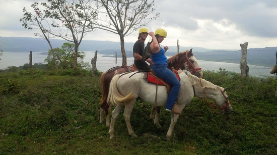 Rancho Margot: trail riding up Mirador mountain