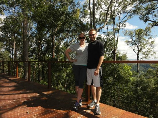 Gwinganna Lifestyle Retreat: At the Yoga Deck up the top of the mountain....steep hike to get there but so worth it!