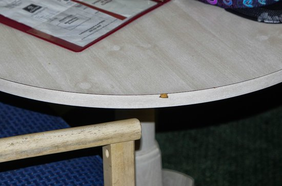 Clarion Inn: Chipped Furniture