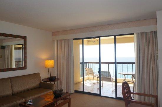 Aston Waikiki Beach Tower: リビング