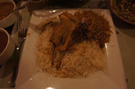 Al Adhamiyah Iraqi Restaurant: メインに注文したラム料理