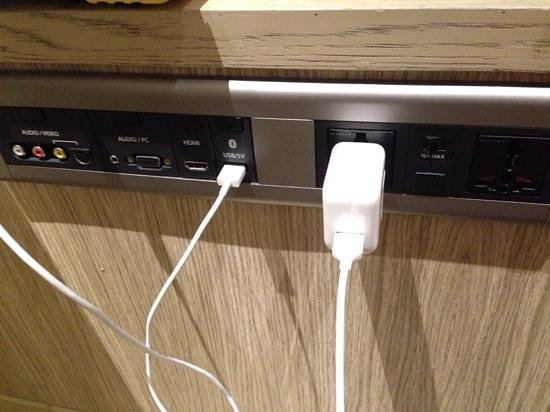 PARKROYAL on Pickering: USB port and unversal adaptor dock