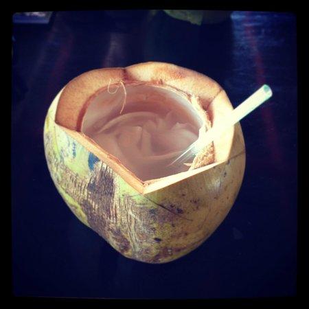 Taipan Restaurant: Fresh coconut drink 'Kelapa mudah'