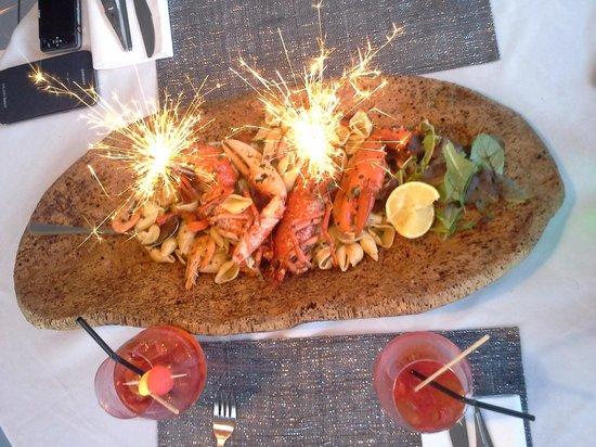 vin et un : Homard avec ses pâtes juste exceptionnel en goût comme en présentation. Et le prix 21€ le homard