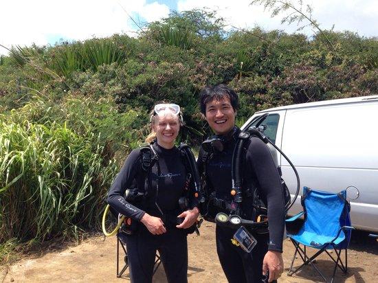 Kauai Down Under Dive Team: Happy divers:-)