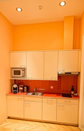 Appartement-Hotel an der Riemergasse : Kitchen