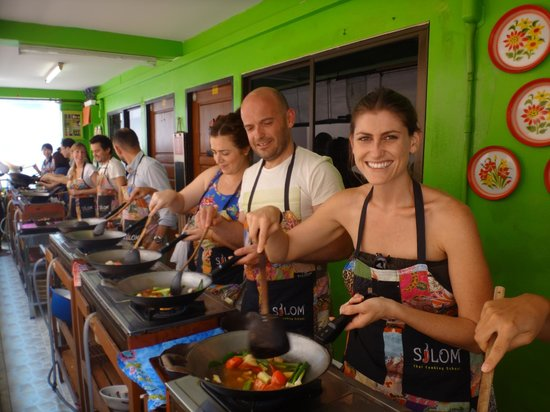 cooking one of 5 dishes we made photo de silom thai cooking school bangkok tripadvisor. Black Bedroom Furniture Sets. Home Design Ideas
