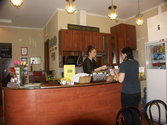 Nevsky Contour Hotel: раздача завтрака