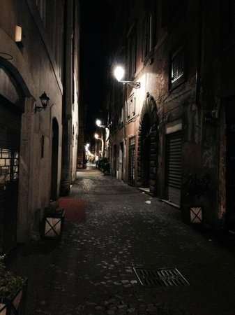 Antica Dimora de Michaelis: Via dei Coronari at night