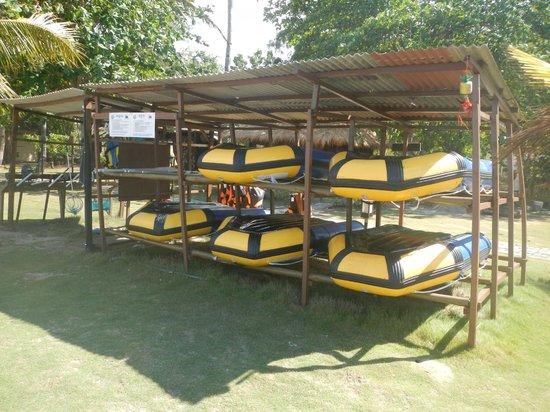 Bintan Spa Villa Beach Resort: Water sports equipment rental shed