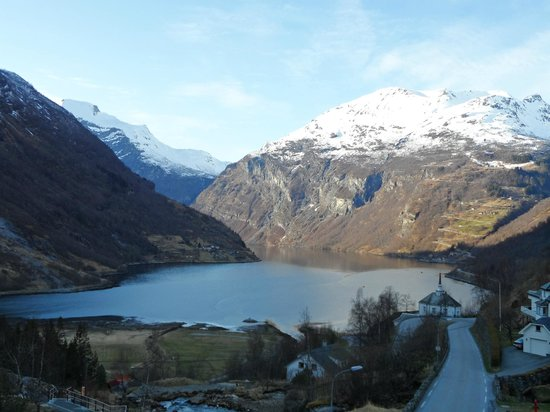 Hotel Union Geiranger: From my 3rd floor window