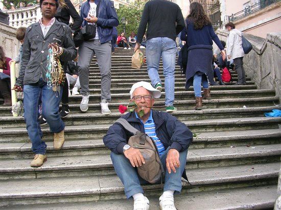 Pepy's Bar: Gordy on the Spanish Steps, I've spent 50 years with him!