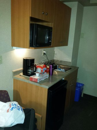 Econo Lodge Inn & Suites University : Small but sufficient kitchenette