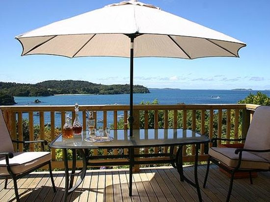Balcony at Stewart Island Lodge