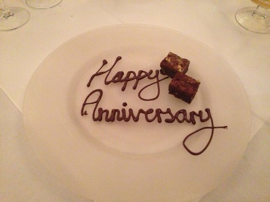 Marco Pierre White Steakhouse: A lovely touch for my parents ruby anniversary x