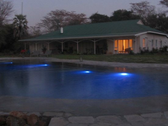 Waterberry Zambezi Lodge: Outside View Night