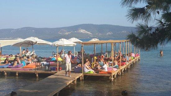 Gezgin Cafe: Free beach