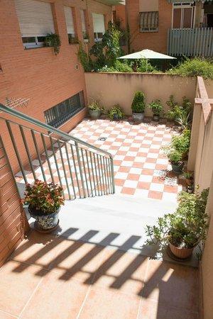 Camino Real Hostal: Terraza de una de las habitaciones (no todas las habitaciones tienen terraza, consultar al reser