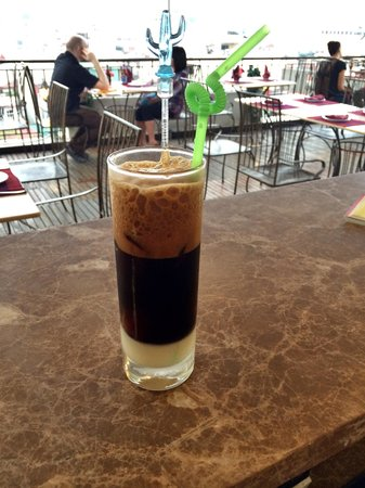 Purple Cherry Restaurant Ice Black Coffee With Milk