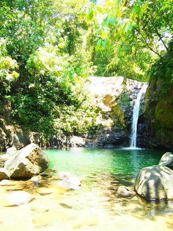 waterfall near tucan hotel