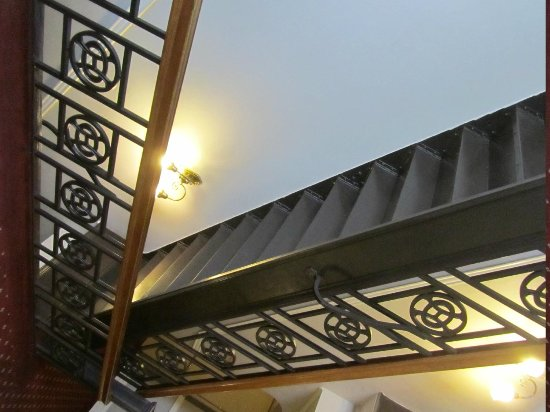 The Oxford Hotel : Stairway with custom iron work