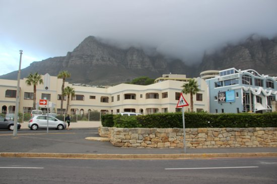 Camps Bay Village (Resort): A view from the beach back at the apartments