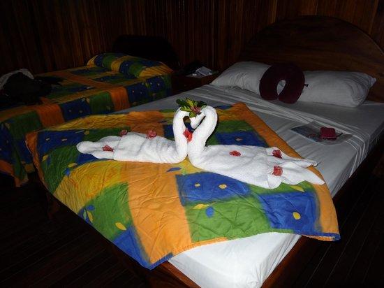 Arenal Hostel Resort: swan towels :)