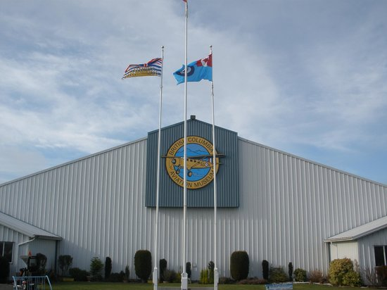 BC Aviation Museum : Flags proudly flying !