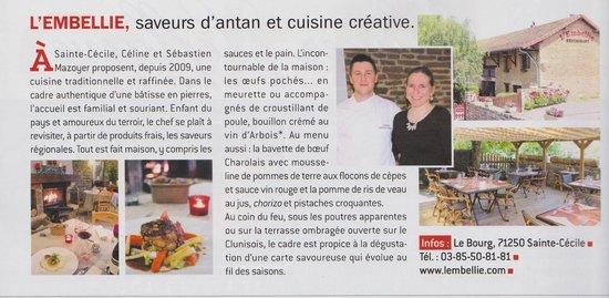 Article dans le Gault & Millau 2014