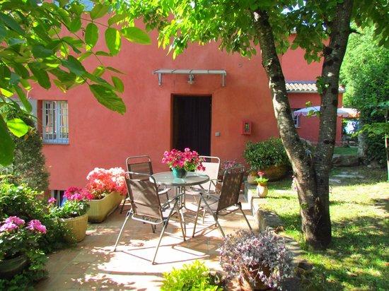 Terrasse du Studio Gite Agonda de la Bastide Valmasque