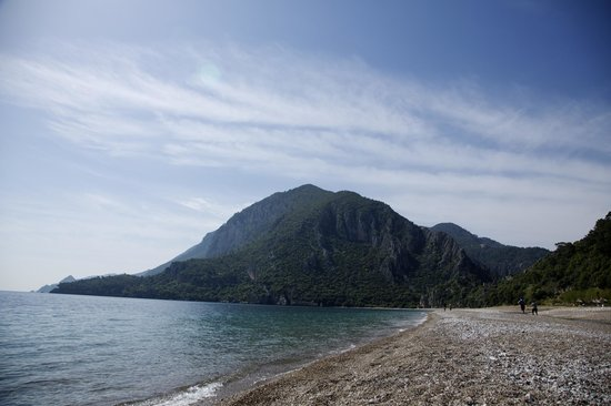 Olympos Lodge: The beach toward Olympos