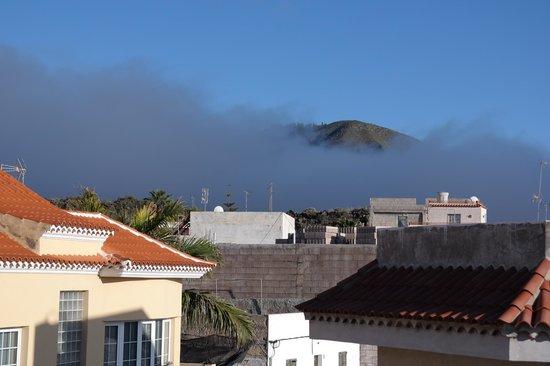 Hotel Pension La Vista: Blick von der Dachterrasse auf den Teide