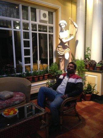 Mayfair Darjeeling : In front of reception.