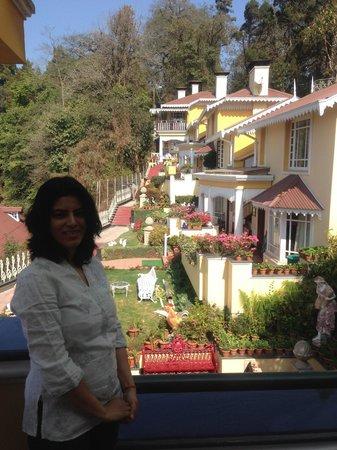Mayfair Darjeeling : View from the terrace.