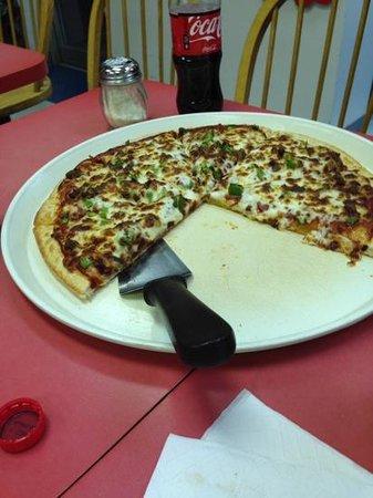 Godfather's Pizza: Large yummy pie.
