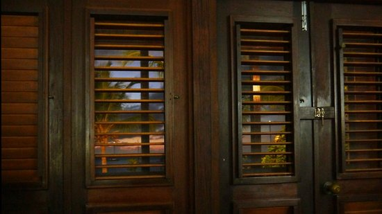 Tamarind Beach Hotel & Yacht Club: View through the wooden shutters