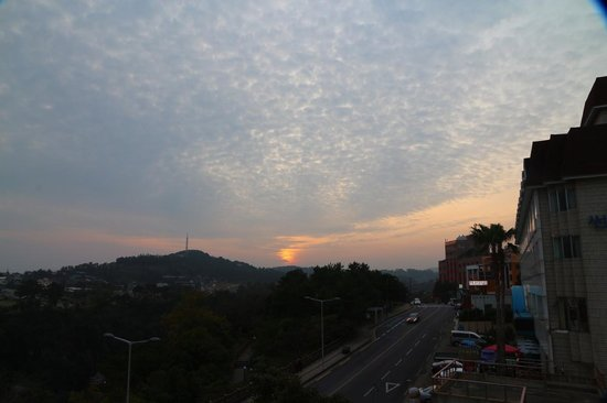 Tae Gong Gak: Sunset view from Rooftop