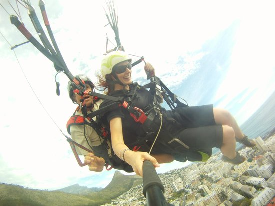 Cape Town Tandem Paragliding: Getting into the swing of things...