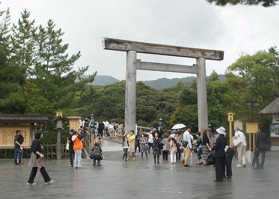 Le sanctuaire d'Ise : 宇治橋付近
