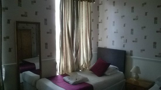 The Crown Hotel: Curtains letting ALL the light in