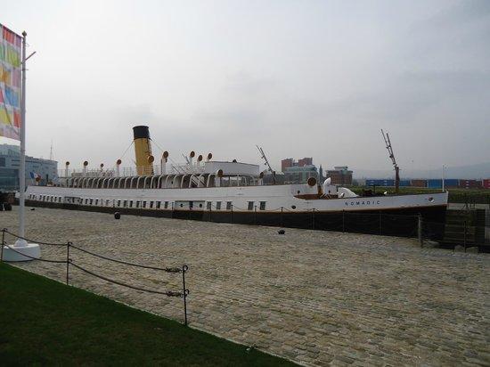 Premier Inn Belfast Titanic Quarter Hotel: Nomadic Ship around the corner from Hotel