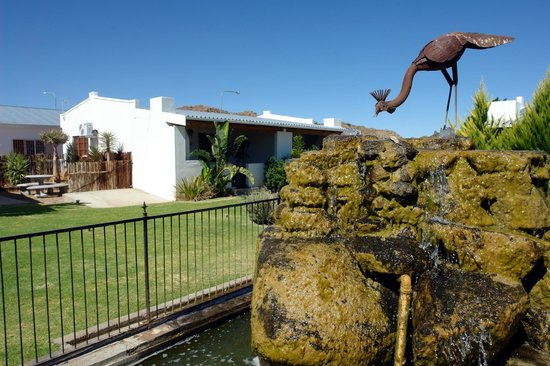 Kleinplasie Guesthouse : Our twin bed rooms 1 to 6 are situated around a lush garden and water feature