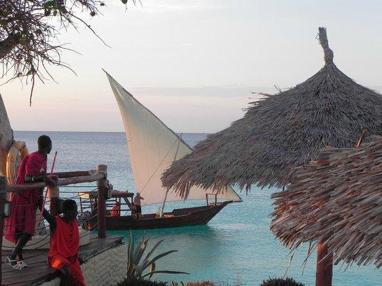 Royal Zanzibar Beach Resort: tramonto dalla terrazza